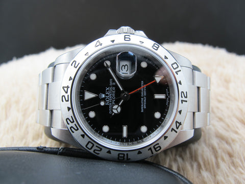 [NEW] 2011 Rolex EXPLORER 2 16570 Black Dial Full Set (NOS)