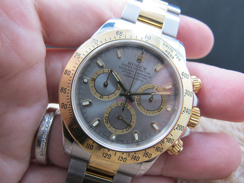 2002 Rolex DAYTONA 116523 2-Tone with Original Grey Dial Full Set