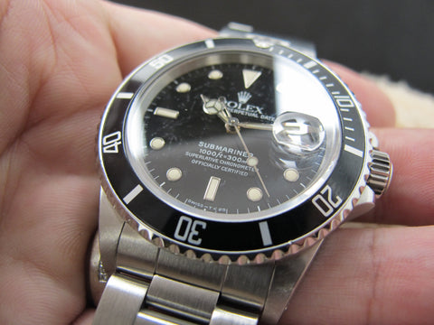 1988 Rolex SUBMARINER 168000 (Triple 0) Black Dial with Box and Paper