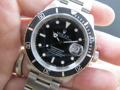 1992 Rolex SUBMARINER 16610 (T25 Dial) with Box and Paper