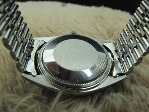 1972 Rolex DATEJUST 1601 SS ORIGINAL Silver Dial with Folded Jubilee