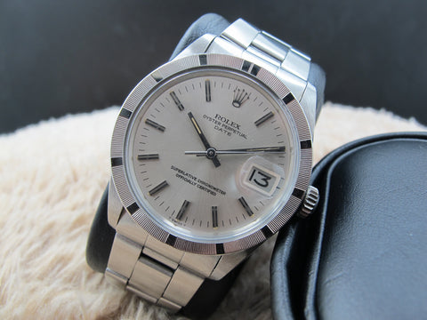 1972 Rolex OYSTER DATE 1501 with Original Silver Dial with Folded Oyster Band
