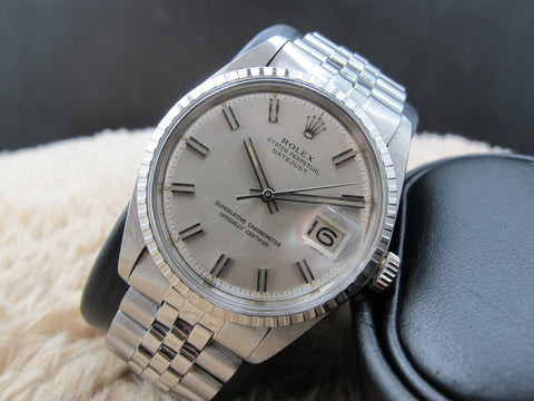 1969 Rolex DATEJUST 1603 SS with Original Wide Boy Dial