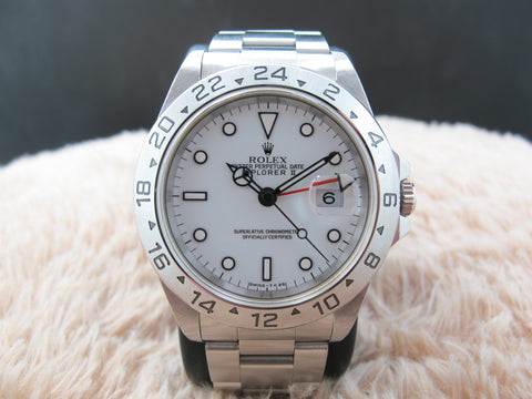 1995 Rolex EXPLORER 2 16570 with White T25 Dial