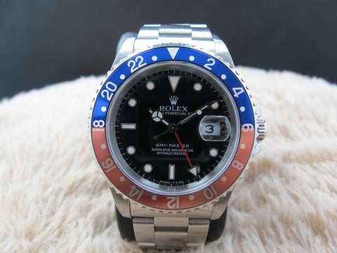 1997 Rolex GMT MASTER 16700 (T25 Dial) Pepsi Red/Blue Bezel