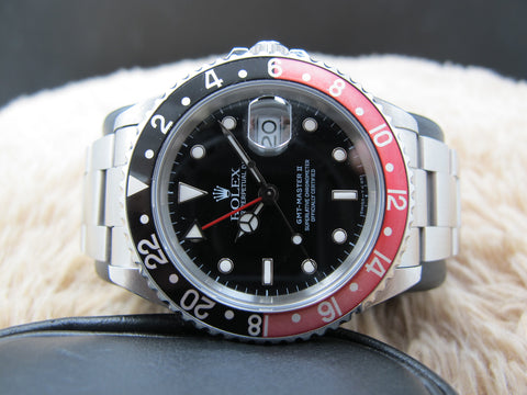 1995 Rolex GMT MASTER 16710 (T25 Dial) Coke Red/Black Bezel