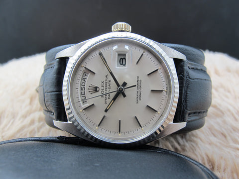 1967 Rolex DAY-DATE 1803 18K White Gold with Original Silver Dial