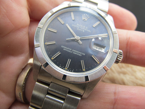 [1974] Rolex OYSTER DATE 1501 with Original Bluish Grey Dial