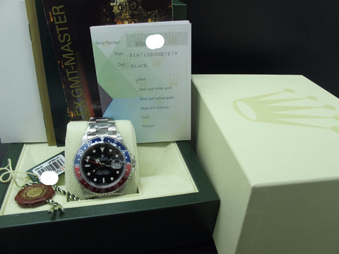 [NEW] 2007 Rolex GMT MASTER 2 16710 Pepsi Red/Blue Bezel Z Serial Full Set (NOS)