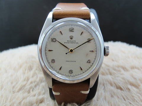 [1951] Rolex OYSTER PERPETUAL 6098 with Arabic Dial BIG Bubbleback (36mm)
