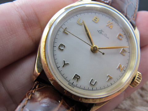 [1954] Rolex EATONS 6222 Quarter Century Club with 14K Yellow Gold Case