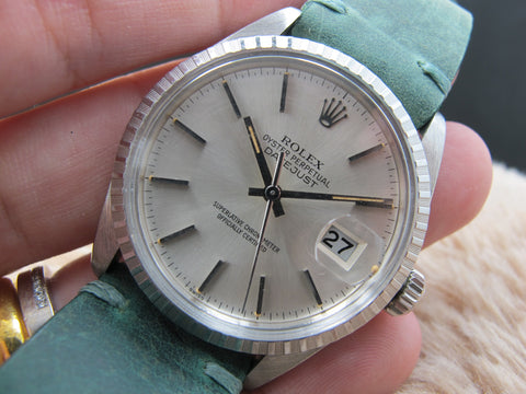 1982 Rolex DATEJUST 16030 SS with Original Silver Dial with Orange Patina