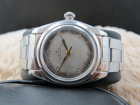 "1946 Rolex BUBBLEBACK 2940 with ""Tropical"" Arabic Dial"