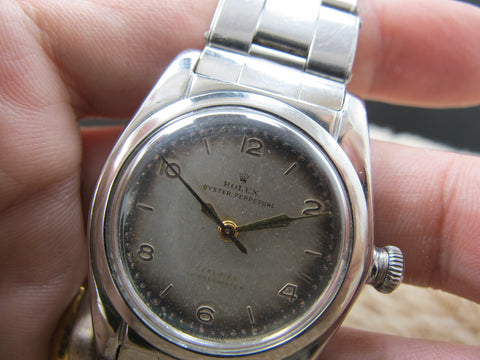 "[1946] Rolex BUBBLEBACK 2940 with ""Tropical"" Arabic Dial"