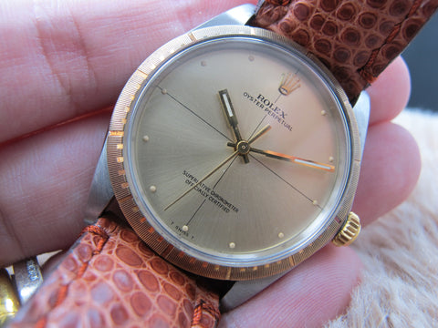"[1969] Rolex OYSTER PERPETUAL 1038 ""Zephyr"" Original Gold Dial"