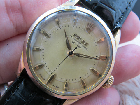 "[1960] Rolex SEMI-BUBBLEBACK 6332 with 2-Step Bullseye Dial Signed with ""DEEPSEA"""