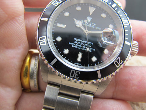 1999 Rolex SUBMARINER 16610 (SWISS Dial) Black Bezel
