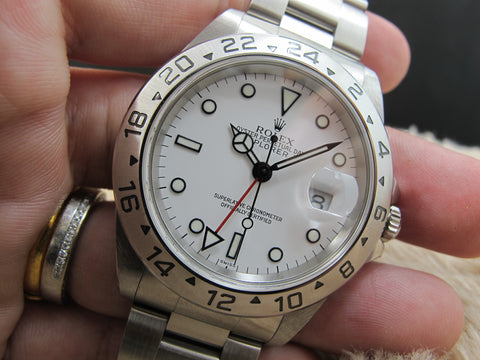 1999 Rolex EXPLORER 2 16570 White (Swiss) Dial Mint Condition