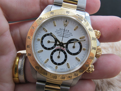 "1991 Rolex DAYTONA 16523 Original White ""Inverted 6"" Dial (Zenith)"