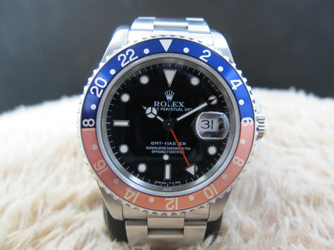 1991 Rolex GMT MASTER 16700 (T25 Dial) Pepsi Red/Blue Bezel