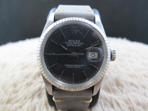 [1984] Rolex DATEJUST 16014 SS with Original Glossy Grey Dial