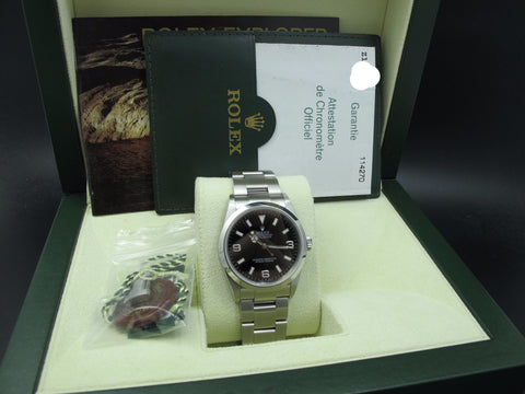 2006 Rolex EXPLORER 1 114270 Black Dial with BOX and Paper