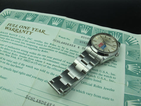 [1987] Rolex AIR KING 5500 Original Domino Pizza Dial with Paper