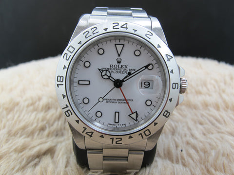1994 Rolex EXPLORER 2 16570 with White T25 Dial