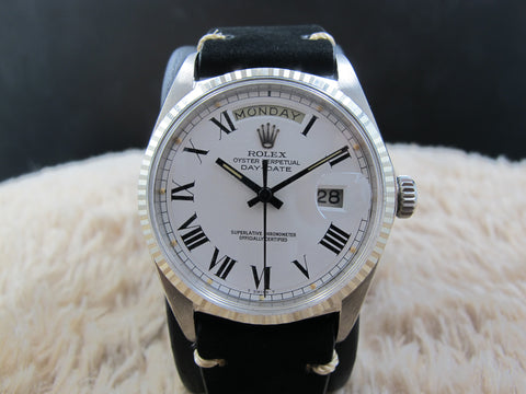 1967 Rolex DAY-DATE 1803 18K White Gold with Original White Buckley Dial