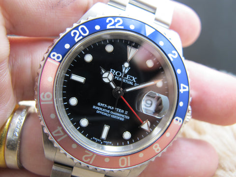 1999 Rolex GMT MASTER 16710 Pepsi Red/Blue Bezel