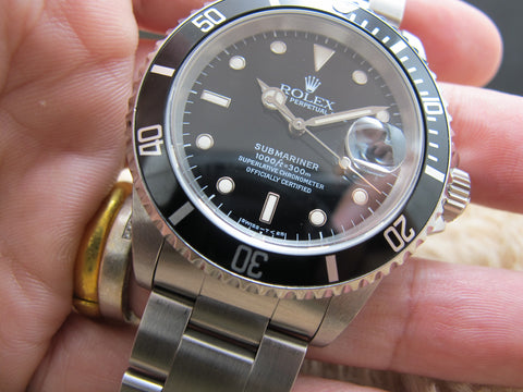 1995 Rolex SUBMARINER 16610 Black (T25) Dial with Black Bezel