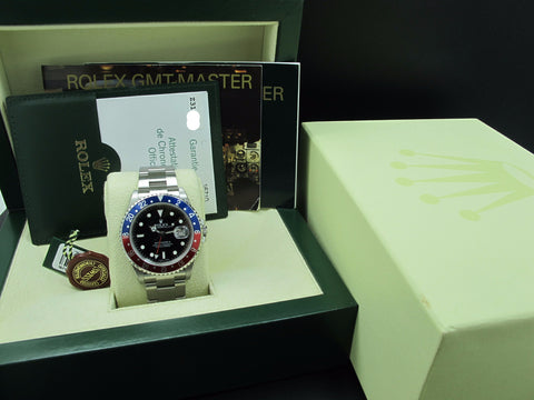[NEW] 2006 Rolex GMT MASTER 2 16710 Pepsi Red/Blue Bezel Z Serial Full Set (NOS)