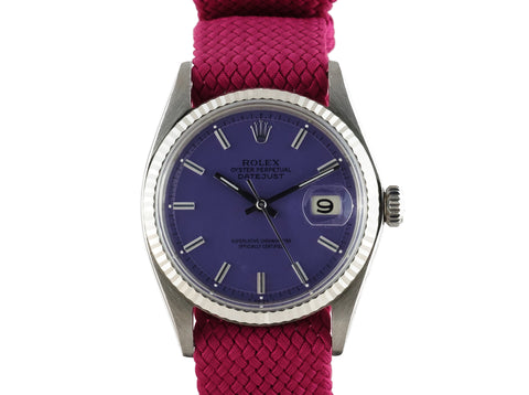 "1968 Rolex DATEJUST 1601 SS with Glossy ""Stella"" Purple Dial"