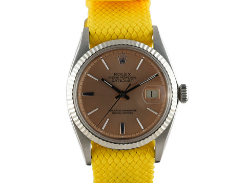 1967 Rolex DATEJUST 1601 SS Salmon Dial with Folded Jubilee Band
