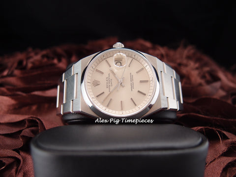 Rolex OYSTER DATE 1530 Original Silver Dial with Service Paper RARE