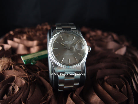 Rolex DATEJUST 16030 Stainless Steel Original Grey Dial with Box & Paper