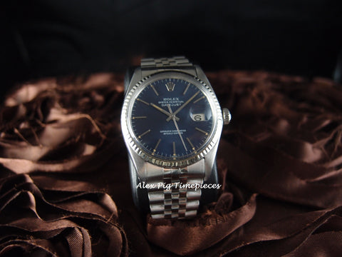 Rolex DATEJUST 16014 Stainless Steel Original Blue Dial