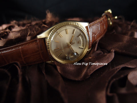 Rolex DAY-DATE 1803 18K Gold with Original Light Grey Dial