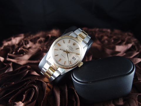 Rolex AIR KING DATE 5507 Original Creamy Dial with 2-Tone Solid Oyster Band