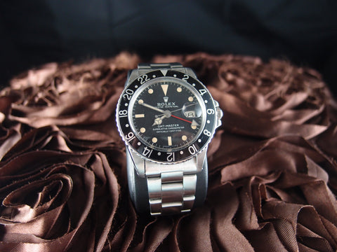Rolex GMT MASTER 1675 Matt Dial with Nice Patina with Oyster Band