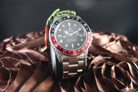Rolex GMT MASTER 2 16710 Coke Red/Black Bezel with BOX and PAPER