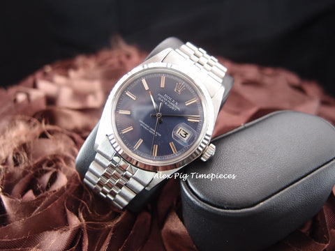 1968 Rolex DATEJUST 1601 SS ORIGINAL Blue Dial with Jubilee Band