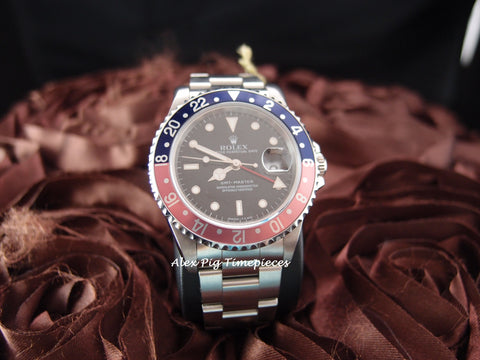 1995 Rolex GMT MASTER 16700 Pepsi Red/Blue Bezel with BOX and PAPER