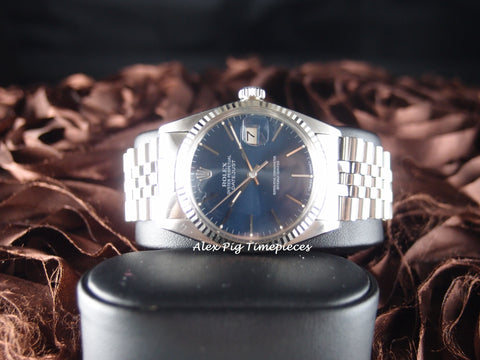 Rolex DATEJUST 16014 Stainless Steel Original Blue Dial with Box & Paper