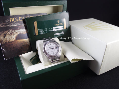 Rolex EXPLORER 2 16570 White Dial with Box and Paper [NEW]
