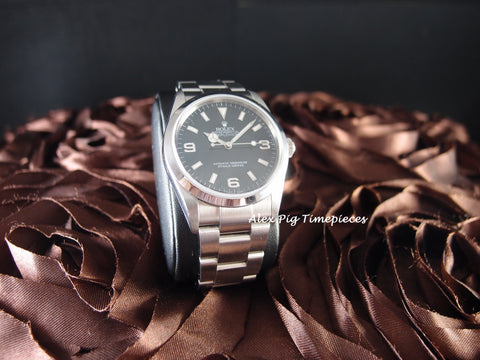 Rolex EXPLORER 1 114270 Black Dial with BOX and Card Z Serial