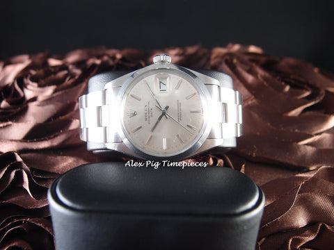 Rolex OYSTER DATE 1500 Original Silver Dial with Solid Oyster Band