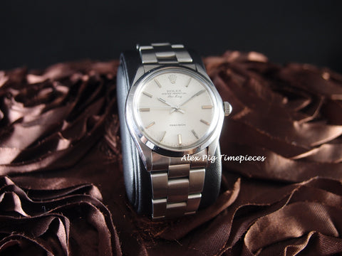 Rolex AIR KING 5500 Original Silver Dial with Solid Oyster Band