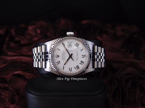 Rolex DATEJUST 16014 Stainless Steel Original White Roman Dial