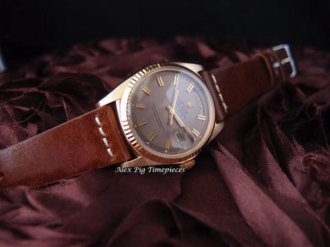 Rolex DAY-DATE 1803 18K Gold with Original Grey Wide Boy Dial